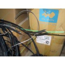 Оптический кабель Б/У для внешней прокладки (с металлическим тросом) в Копейске, оптокабель БУ (Копейск)