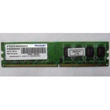 Модуль оперативной памяти 4Gb DDR2 Patriot PSD24G8002 pc-6400 (800MHz)  (Копейск)